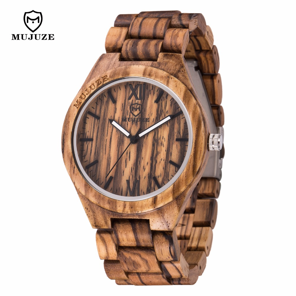 2018 new natural high quality wood analog quartz watch UWOOD Japan MIYOTA sports wood watch leisure watch men's watch 1children time sports watch leisure new 5per ytl0815 ttb01
