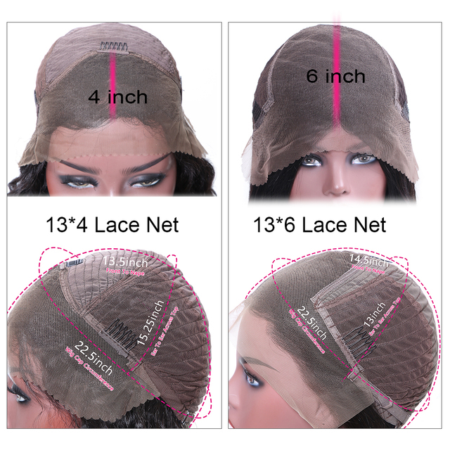 Lace Front Human Hair Wigs Pre Plucked Brazilian Remy Hair Straight Lace Front Wigs