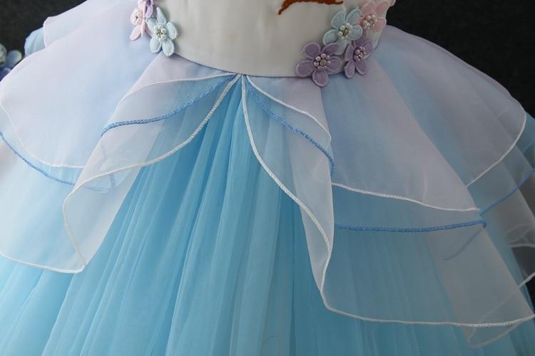 HTB1d3jVonlYBeNjSszcq6zwhFXab New Girls Dress 3Pcs Kids Dresses For Girl Unicorn Party Dress Christmas Carnival Costume Child Princess Dress 3 5 6 8 9 10 Year