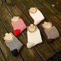 Свежий леди стиль Сетке печать женщины носки женские милые Носки Женские Тепловые Теплые Носки 5 пар/лот