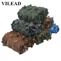 VILEAD Simple 1.5*6.5m 7 colors Camouflage Net Woodland Blue Green Desert Camo Netting without Edge Binding Sun Shelter Car Tent