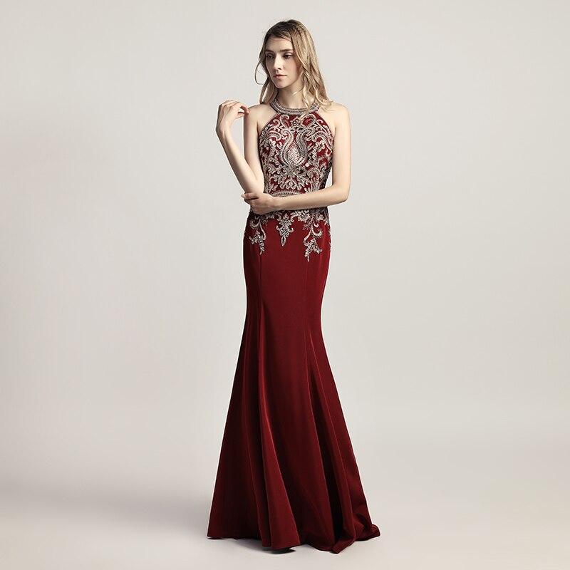 fd32e25c13 Eleganckie kobiety formalne granatowy długi Mermaid suknie ...