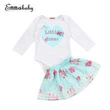 09f14f86d3c3 Casual Little Sister/Big Sister Clothes Set Infant Kid Baby Girl Sister  Matching Floral Jumpsuit