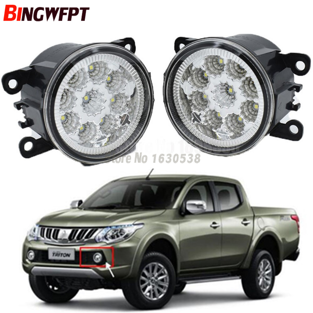 For Mitsubishi Triton 15-16 Car Front Bumper Fog Lamps Light Assembly 1Pair New