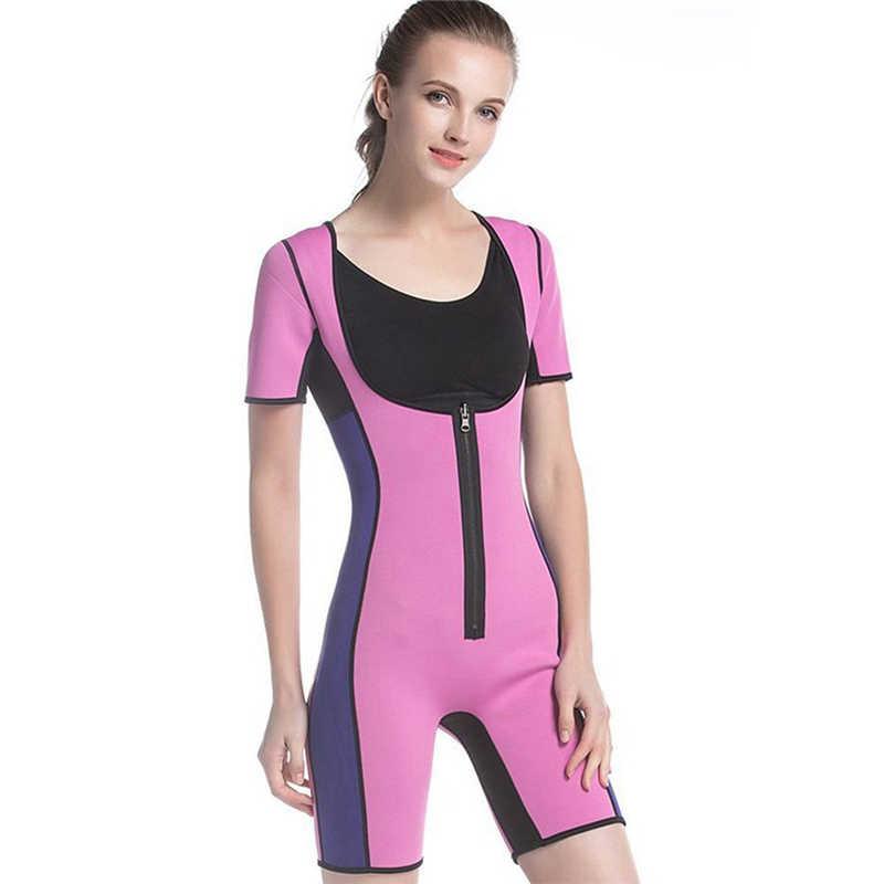 df86936d4b Hot Shapers Women Bodysuit Sauna Suit Waist Trainer Corsets Neoprene Body  Shaper Women Slimming Full Shape
