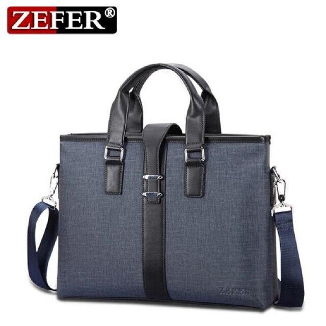 ZEFER Promotion Simple Dot Famous Brand Business Men Briefcase Bag Luxury PVC Leather Laptop Bag Man Shoulder Bag az129