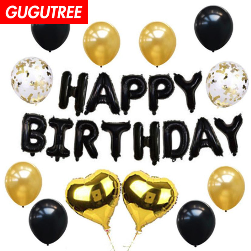 happy birthday balloons for party Decoration,star round heart foil decoration PD-48