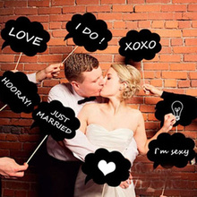 10 pcs Mr Mrs Photo Booth Props Love DIY On A Stick Photography Wedding Decoration Party for Fun Favor photobooth photocall