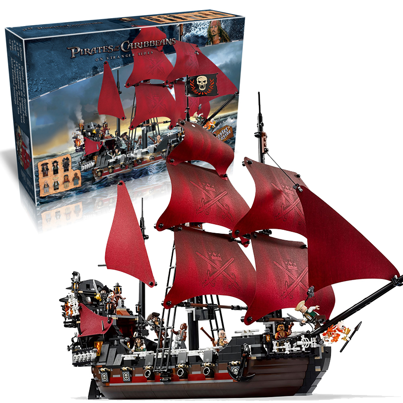 Lepin 16009 Queen Anne's Revenge building bricks blocks Toys for children boys Game Model Gift Compatible with Bela Decool 4195 lepin 02012 city deepwater exploration vessel 60095 building blocks policeman toys children compatible with lego gift kid sets