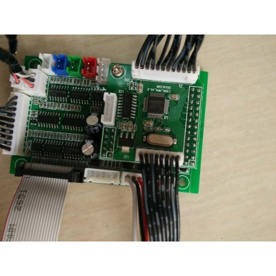 DMX board with safety,LCD+SD,with sound, ILDA, DMX,SD