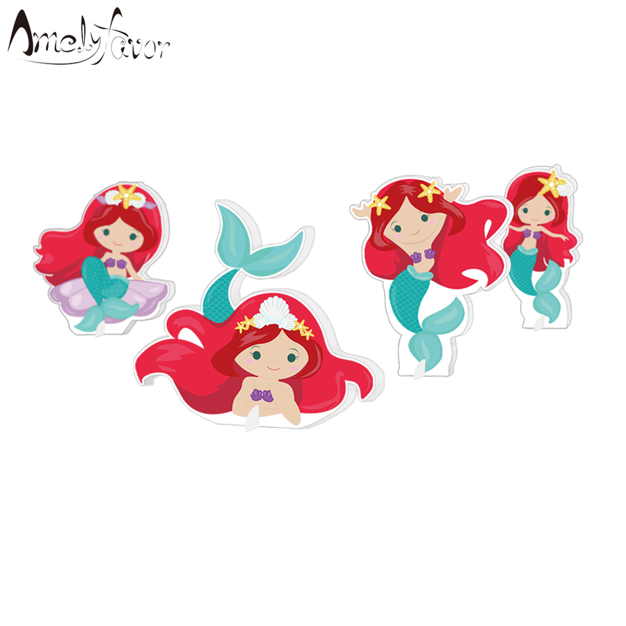 Detail Feedback Questions About Little Mermaid Party Decoration Table Centerpiece Kids Birthday Supplies Under The Sea Centerpieces