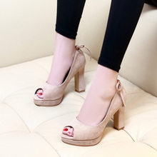 Nice New Spring Summer Women Shoes Solid Color Platform Pumps Thin High Heels Sandals Ladies Sexy CH-B0030