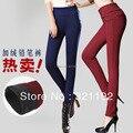 Mulheres plus size outono inverno mais veludo leggings calças lápis slim trousersC506, 6159 #