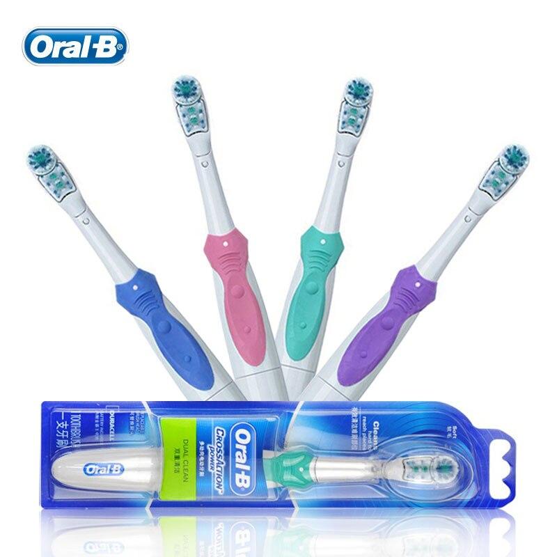 4 vendidos. Oral B Cruz acción cepillo de dientes eléctrico doble limpia  los dientes blanqueamiento no recargable cepillo 74817204eb30