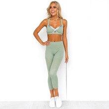 Female Sport Suit Women Fitness Clothing Wear Yoga Set Gym Jogging Suits Sportswear Running Leggings