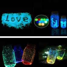 10g Glow In The Dark Luminous Noctilucent Sand Paint Fluorescent Party DIY Star Wishing Bottle Fluorescent Particles Kids Gifts