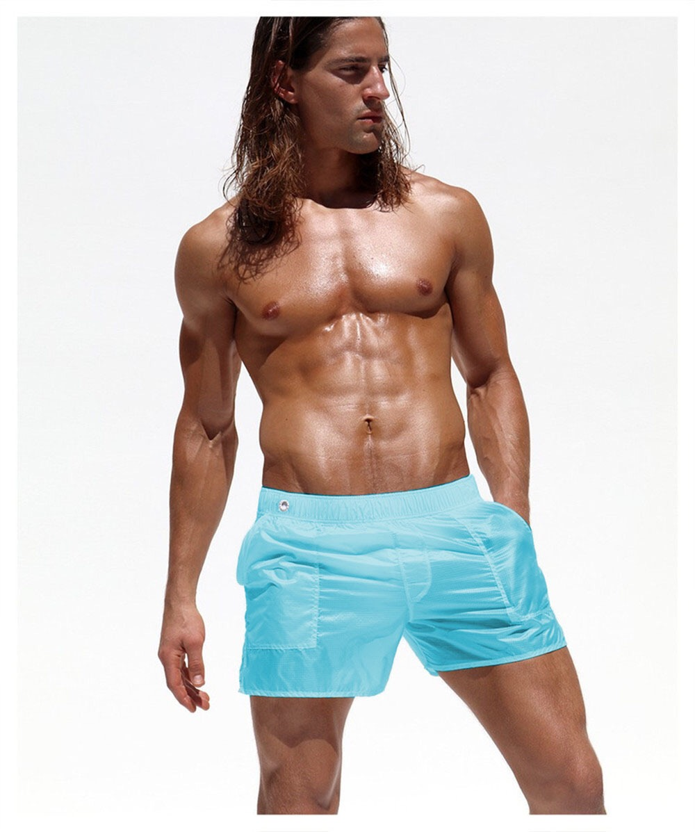 Topdudes.com - NEW Men's Sexy Transparent Quick Dry Beach Shorts