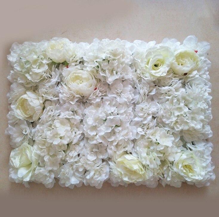 3D Yapay İpek Gül Çiçek Duvar Dekorasyon Parti Dekoratif Ipek Ortanca Düğün Dekorasyon Backdrop 40X60 cm