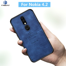 For Nokia 4.2 Original PINWUYO VINTAGE PU Leather Protective Phone Case for Nokia 4.2 Back Cover Cases protective pu pc case for nokia 525 520 black