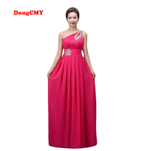 DongCMY 2017 new long design Evening dress party one shoulder vestido longo Lace-up plus size formal CG002