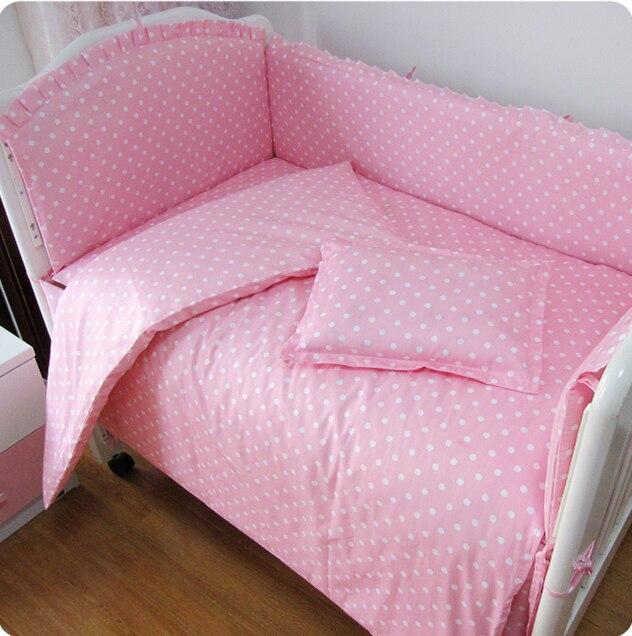 9PCS Whole Set Baby Crib Bedding Set Cotton Ropa De Cuna Baby Good Quality , 120*60/120*70cm