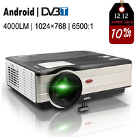 CAIWEI DVBT 4000 Lumens Home Digital TV Projector LED LCD Full HD 1080p Android WiFi Wireless