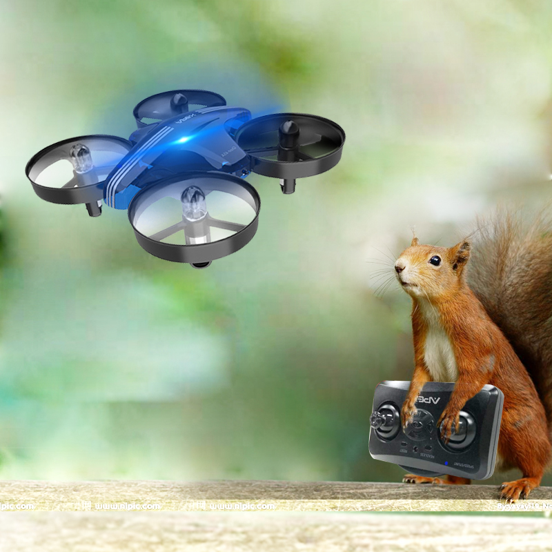 Mini Drone Dron Quadcopter Remote contral RC Drone Helicopter 2.4G 6 Axis Gyro Micro with Headless Mode Hold Altitude for daults