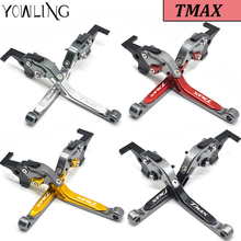 CNC Foldable Extendable Brake Clutch Levers For Yamaha Tmax 500 TMAX-500 TMAX530 TMAX-530 2008-2017 Motorbike Accessories brakes