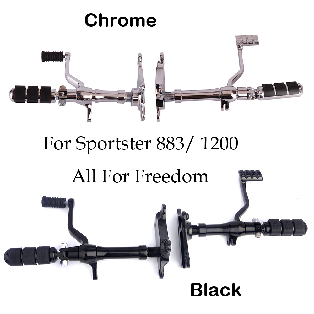 Motorcycle Footrest For Harley Sportster Foot pegs rest Black Chrome Aluminum Forward Controls 883 Roadster XLH1200 1991-2003 все цены