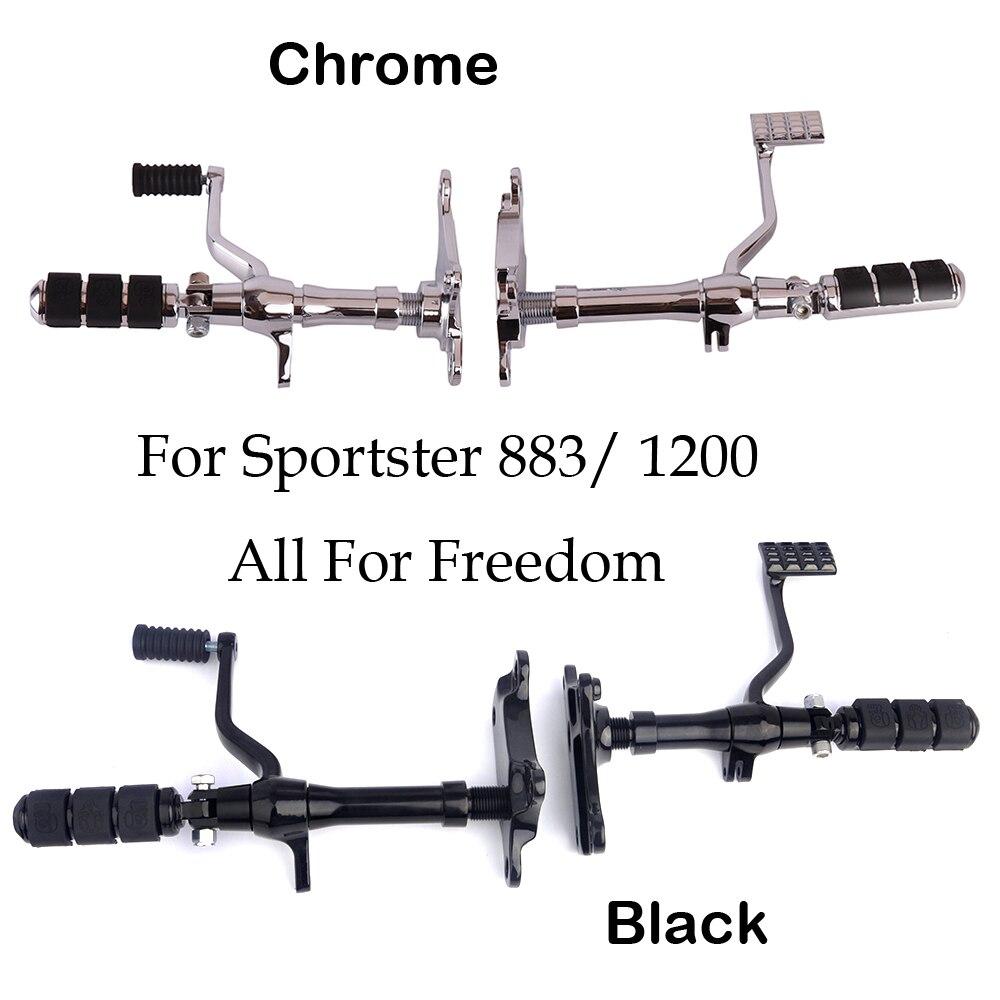Repose-pieds moto pour repose-pieds Sportster repose-pied noir Chrome aluminium commandes avant 883 Roadster XLH1200 1991-2003