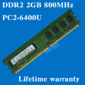 Desktop memory Lifetime warranty For samsung DDR2 2GB 800MHz PC2-6400U 800 DDR 2 2G computer RAM 240PIN Original authentic