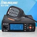 BJ-218 25 W Potencia De Salida Mini Radio Móvil VHF UHF 136-174 400-470 MHz Jamón Radio de Coche Walkie Talkie Para El Coche Bus Taxi