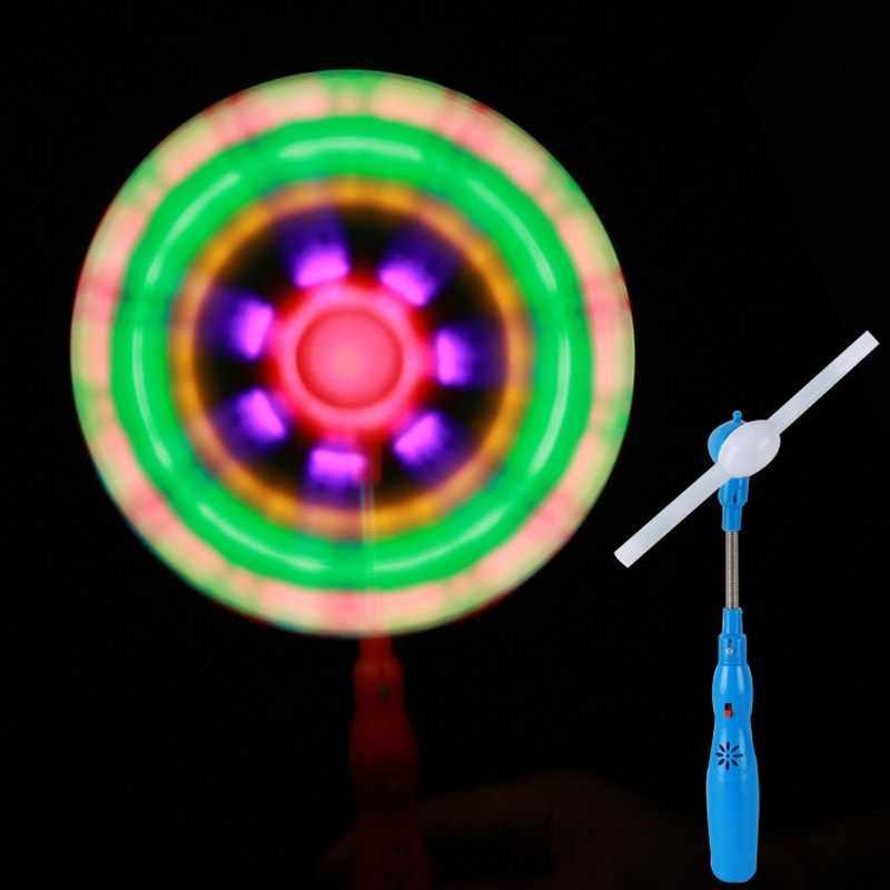 1 Обучающие игрушки ветряные мельницы мигающий свет светодиодный и музыка Радуга спиннинг мельница ветер Спиннер светящиеся игрушки для детей