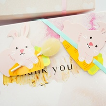 new 50pcs lollipop cover rabbit love carrot design children birthday wedding candy decorate holiday Christmas gift packaging