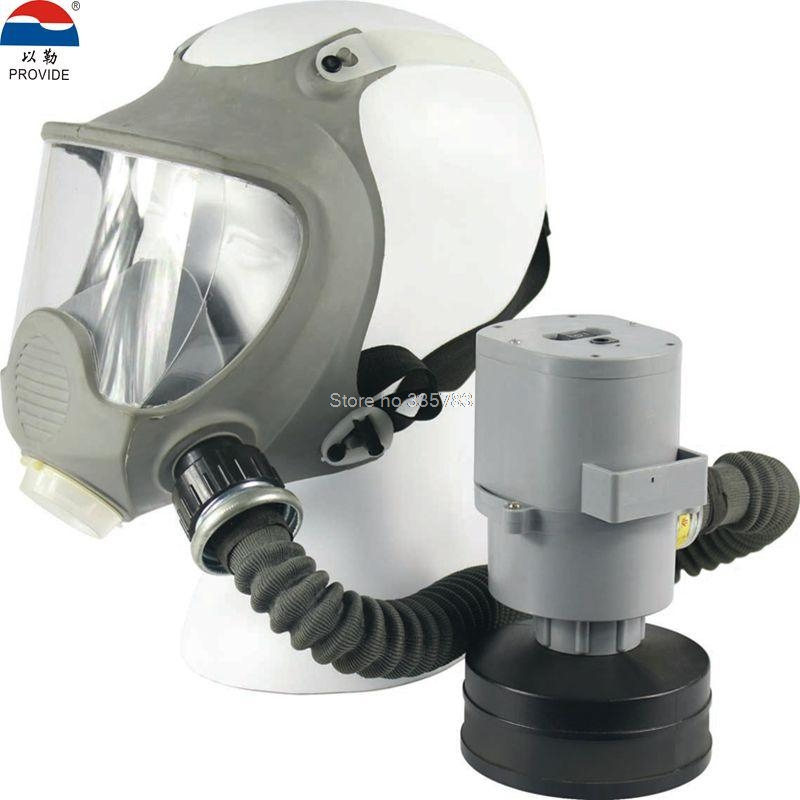 PROVIDE Electric Air Supply Respirator Mask Chargeable Mobile Spray Paint Dust Cover High Power Air Supply Full Face Respirators