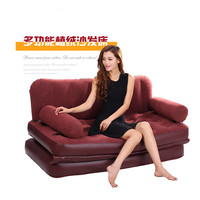 Folding inflatable sofa bed Inflatable sofa mattress sofa flocking inflatable recreational chair