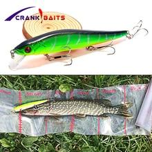 CRANK BAITS 1Pcs Hard Bait Minnow Fishing Lure with 3* Hooks  Peche Bass Trolling Artificial Tackle YB8