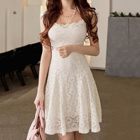 2017 mode sommer frauen floral lace kleider kurzarm vestidos party casual farbe beige mini dress
