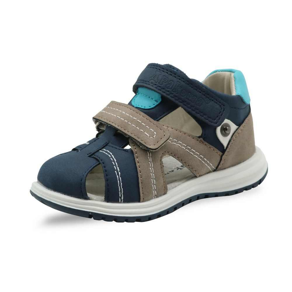 7010c6cbc Apakowa Unisex bebé niños cerrada del dedo del pie sandalias niños suave de  cuero sandalias de