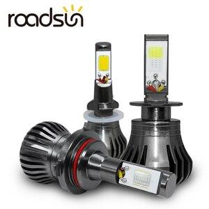 Image 1 - Ampoule de voiture anti brouillard, lumière blanche, bleue ou jaune, pour le jour, H8 H9 H11 H3 880 881 H27 LED, 12V 55W
