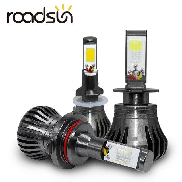 Ampoule de voiture anti brouillard, lumière blanche, bleue ou jaune, pour le jour, H8 H9 H11 H3 880 881 H27 LED, 12V 55W