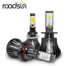 רכב ערפל מנורת הנורה אורות H8 H9 H11 H3 880 881 H27 LED אוטומטי פנס 12 v 55 w לבן כחול צהוב רכב בשעות היום ריצת אור