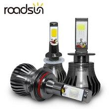 سيارة الضباب أضواء المصباح الكهربي H8 H9 H11 H3 880 881 H27 LED كشافات السيارات 12 فولت 55 واط الأبيض الأزرق الأصفر السيارات النهار تشغيل ضوء