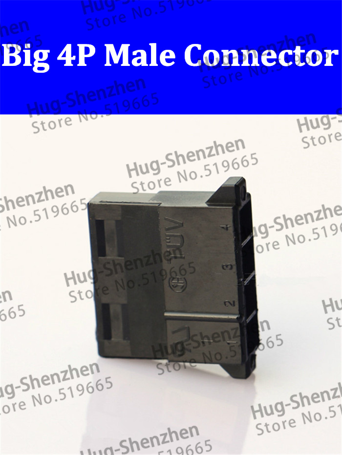 molex black big 4P 4D <font><b>4pin</b></font> male for PC computer <font><b>ATX</b></font> IDE Power connector plastic shell Housing for female terminal pins image
