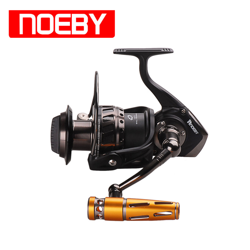 NOEBY Spinning Reels 9+1BB 4.1:1 Moulinet Peche en Mer Carretilhas Fishing Coil Reel De Pesca 7000 9000Series tsurinoya jaguar1000 spining reel 9 1bb 5 2 1 with spare spool moulinet mouche peche fishing coil carretilhas de pescaria