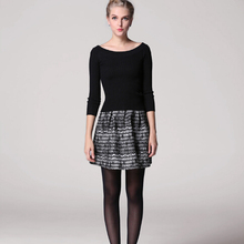 Fashion New Women Short Skirt Lace Coat Debutante Style Ladies Striped Clothing Female Casual Skirt Autumn Winter Clothing HZ225