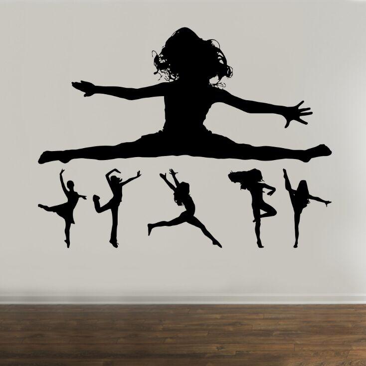Wall Stickers Gym Gymnastic Dancer Girls Bedroom Art Decals Vinyl Home Decor