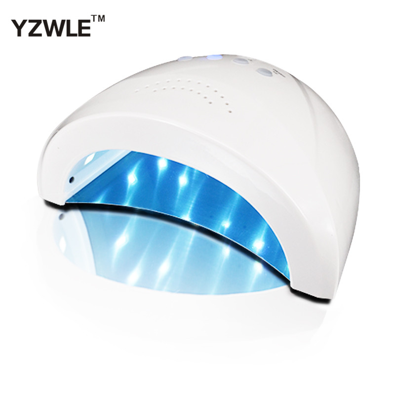 Abody 24/48W UV Lamp Nail Polish Dryer LED White Light 5S 30S 60S Drying Fingernail&Toenail Gel Curing Nail Art Dryer Manicure