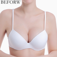 DeRuiLaDy HOT SALE Women Sexy Bra Smooth Incognito Piece Bra Strapless Plus Size Push Up Deep