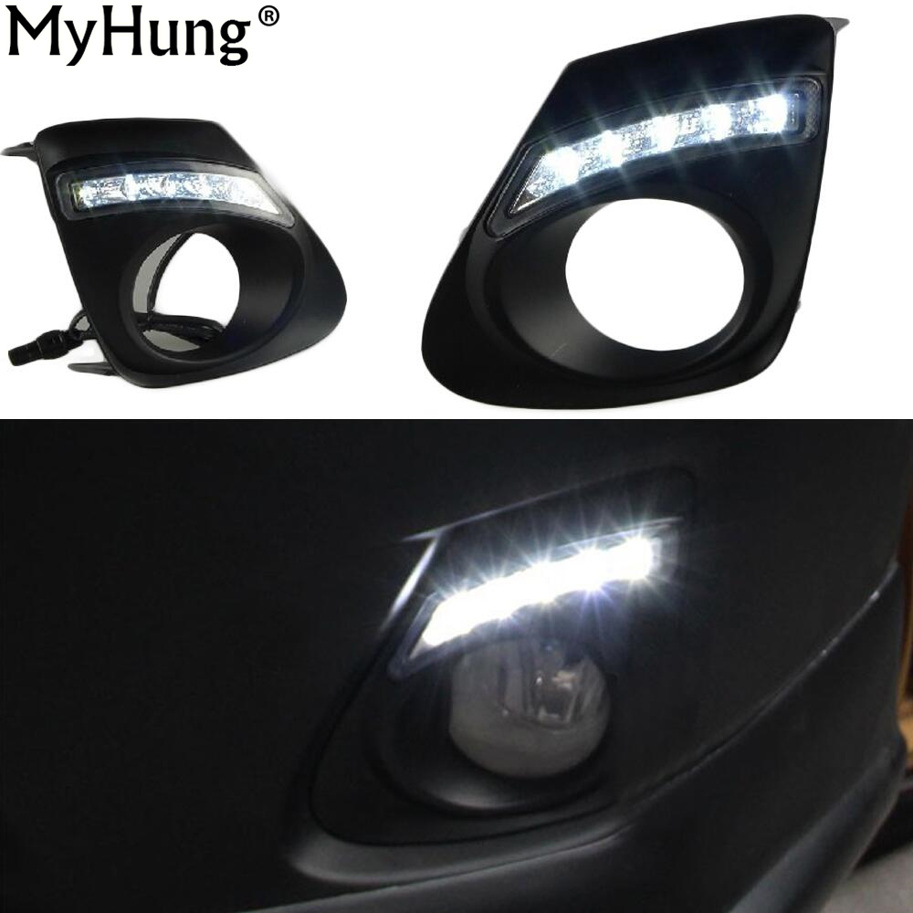 For Toyota Corolla 2011 2012 2013 LED Lights Car DRL Daytime Running Light Lamp Top Quality Super Bright Exact Led Bulbs